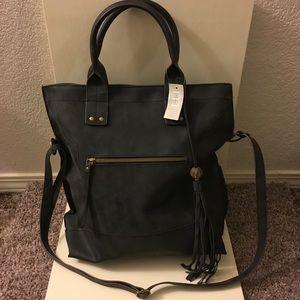 NWT Maurices black leather shoulder bag